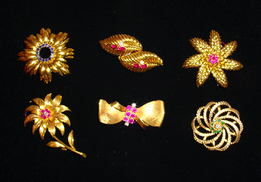 Tiffany Pins and Estate Jewelry