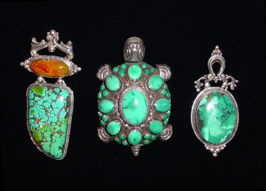 Hand-wrought sterling pendants